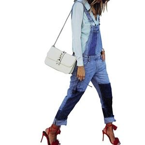 S. the Widow Jeans - ODESSA Patchwork Denim Overalls